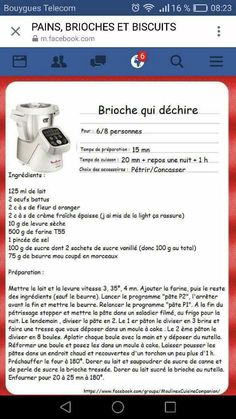 Etuve 1 dans four éteint fermé Cooking Chef, Easy Cooking, Brioche Companion, Cake Factory, Thermomix Desserts, Cake & Co, Culinary Arts, Macarons, Coco