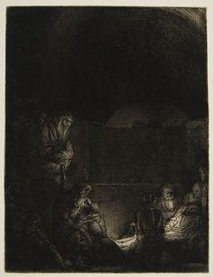 Rembrandt van Rijn – Entombment, c. 1654, Etching | Harvard Art Museums