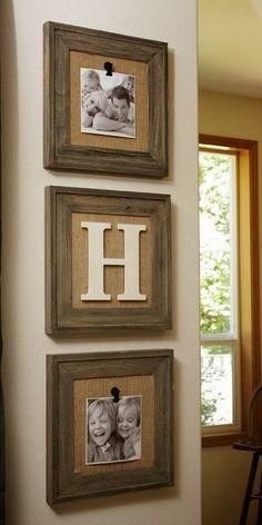 burlap backing in frames