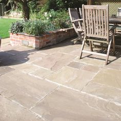 How To Point Paving Slabs A Simple Patio Jointing Guide . Pavestone Kota Blue Limestone Paving With York Cottage . Sandstone And Slate Flagstones Paving Stone Patio . Patio Bar, Patio Slabs, Patio Stone, Stone Patios, Patio Kitchen, Garden Paving, Garden Stones, Garden Slabs, Outdoor Paving