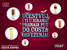 Costa Coffee FB Game by Nenad Ivanovic, via Behance