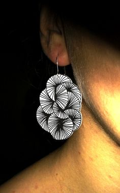 Earring in shrink plastic, inspired from trinesoehest.blogspot.dk