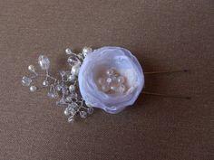 Wedding hair flower white Bridal hair flower by SweetsOfLife4