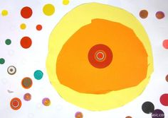 """Kindergarten Dot Lesson inspired by """"the dot"""" by Peter Reynolds"""