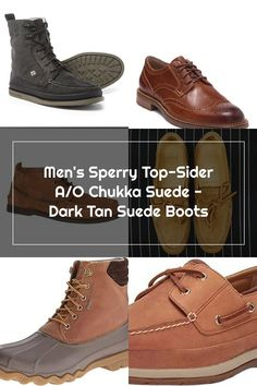 Men's Sperry Top-Sider A/O Chukka Suede - Dark Tan Suede Boots Sperry Top Sider, Sperrys Men, Dark Tan, Suede Boots, Front Row, Louis Vuitton, Sneakers, Shoes, Fashion