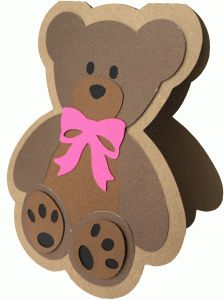 Silhouette Design Store - View Design #80431: teddy bear shadow card
