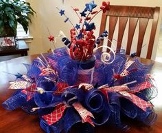 Patriotic Centerpiece by SouthTXCreations on Etsy