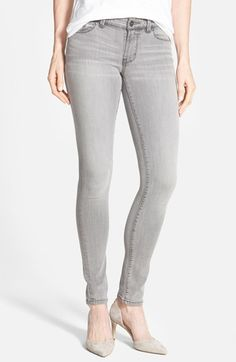 Halogen®+Plain+Pocket+Stretch+Skinny+Jeans+(Grey+Fog)+(Regular+&+Petite)+available+at+#Nordstrom