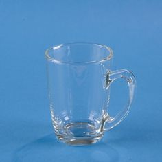 "Glass Mini-Mug:Not too big, not too small — just right! This clear glass mug is scaled for young children to hold and use easily. The thick, restaurant-quality tempered glass is ultra-durable and dishwasher-safe.   Both for handling and for portions, this mug is ideal for young children ages 2½ and up. 5¼""-ounces; 1⅝"" dia. base x 3½"" high."