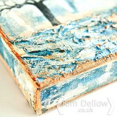 A close up of some of the texture. More pictures on kimdellow.co.uk today. Love a bit of texture! #canvas #art #texture #goldenpaints #kimdellow #painting