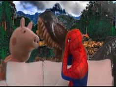 Spiderman in real Life watching Peppa Pig vs Dinosaur fight funny video ...