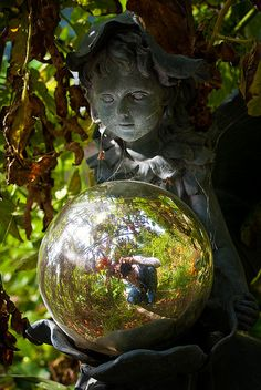 garden spy  i want a gazing ball
