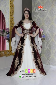 Kaftan-1049ö Traditional Fashion, Traditional Dresses, Turkish Wedding Dress, Latest Bridal Dresses, Muslimah Wedding Dress, Ikkat Dresses, Casual Dresses, Fashion Dresses, Mode Abaya