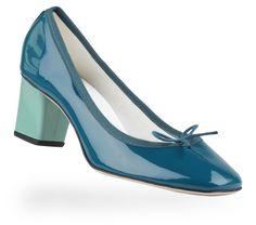 Ballerine Paname Bleu Paon et Vert Celadon Vernis