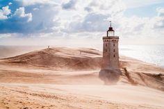 Der Rubjerg Knude Leuchtturm in Jütland wurde 1900 eingeweiht - und 1968...