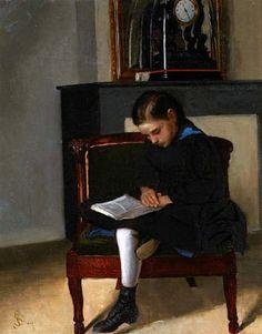 "Seymour Joseph Guy, ""A Young Girl Reading"""