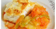 Fabulosa receta para Bacalao con tomate y patatas panadera.