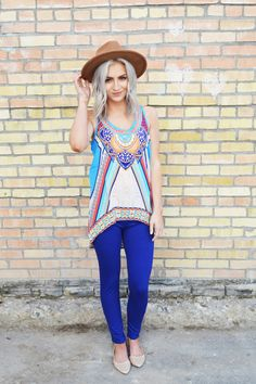 Obsessions Boutique - Boho Hi-Low Tunic Tank, $15.00 (http://www.youreveryobsession.com/products/boho-hi-low-tunic-tank.html)