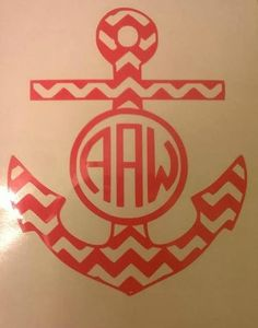 Hey, I found this really awesome Etsy listing at https://www.etsy.com/listing/217089914/custom-chevron-monogram-anchor-decal-can
