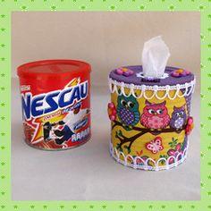 Passo a Passo porta papel higiênico com lata de Nescau capa