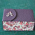 J'ai réalisé cette petite boîte aux Amandes pour une ancienne collègue Aline (faut dire que lorsque je travaillais avec elle, elle apportait...