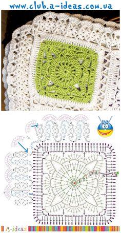 Transcendent Crochet a Solid Granny Square Ideas. Inconceivable Crochet a Solid Granny Square Ideas. Motifs Granny Square, Granny Square Crochet Pattern, Crochet Blocks, Crochet Diagram, Crochet Chart, Crochet Squares, Crochet Granny, Crochet Motif, Scarf Crochet