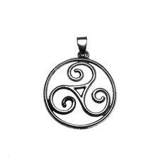 Triskele Pendant | Triskelion Pendant | Celtic Spiral Pendant