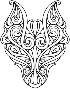 This an embroidery design but it would also make a bitchin tat. Dark Wolf design (UTH5111) from UrbanThreads.com