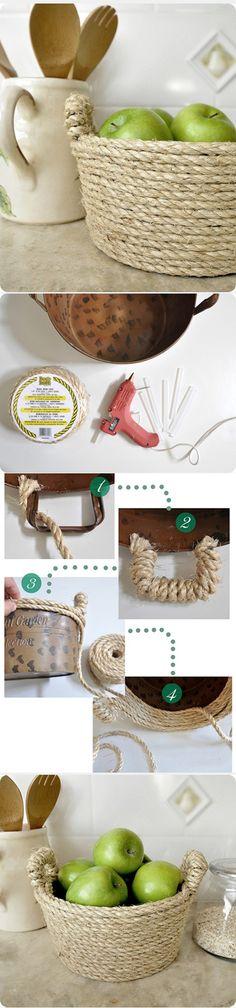 Panela velha= cordas de que dão um ar de mar e rustica