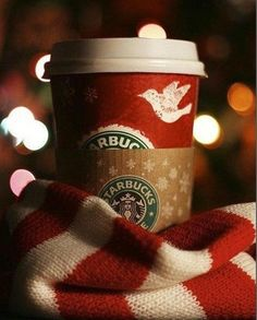 Nothing like chilly weather and scarves and mittens and Starbucks coffee.