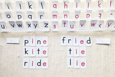 Red Movable Alphabet: Use it alongside the Muriel Dwyer phonogram folders so children can test themselves on spelling: the LOVE to dictate words to each other