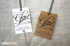 Personalized Printable Wedding Favor Tag for Sparkler Send-off - Glow - PDF- DIY on Etsy, $8.00