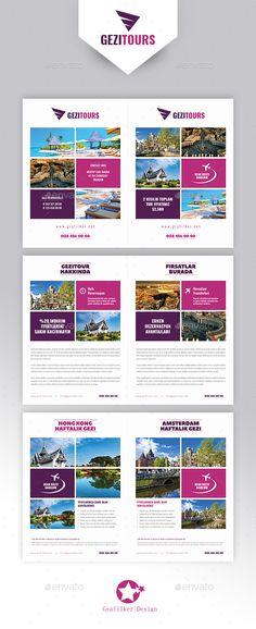Travel Tours Brochure Templates