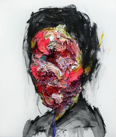 [100] untitled oil & charcoal on canvas 73 x 53.2 cm 20 by KwangHo Shin, via Behance