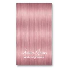 Long Wavy Pink 3 Hair Colorist Salon Business Card