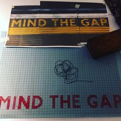 #weavingfutures: we were doing it #oldschool with #mindthegap handpainted onto draft paper @ltmuseum in the #designology exhibition.