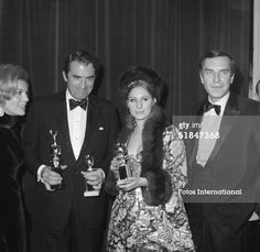 Barbra Streisand holds her award for Best Performance by an Actress in a Motion Picture - Comedy or Musical