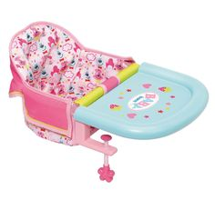 Zapf Creation Baby Born Feeding Chair Table Attachment For Dolls Baby Dolls For Kids, Real Life Baby Dolls, Little Girl Toys, Baby Girl Toys, Toys For Girls, Kids Toys, Muñeca Baby Alive, Baby Alive Dolls, Bb Reborn