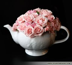 A simple floral design like this can inspire your social media fans into customers #teapotideas