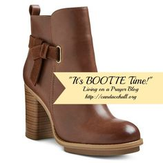 Alright ladies, its boot season and its time to do some damage!! Check out my weekly picks for my favorite booties for fall 2015!!!! http://candacehall.org/its-bootie-time/