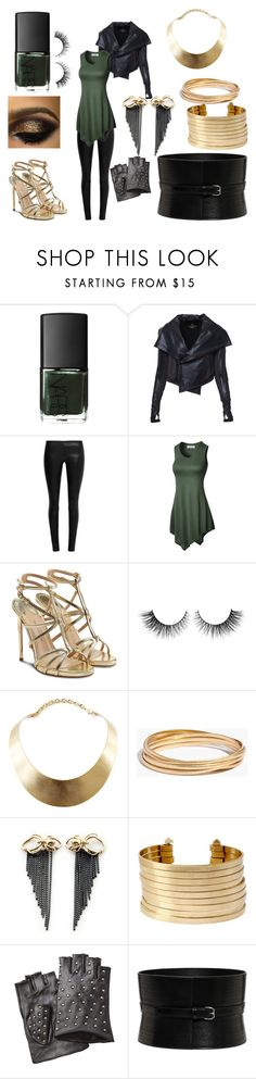 """""""Green Nails: Lady Loki"""" by animegoddess223 ❤ liked on Polyvore featuring NARS Cosmetics, The Row, Paul Andrew, Rimini, GUESS, Madewell, Rachel Entwistle, Kenneth Cole, Karl Lagerfeld and Alexander McQueen"""