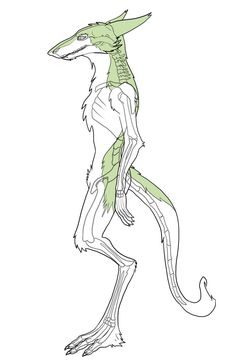 Sergal With Skeleton by Soggy2002