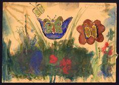 Butterflies and Grass, Margit Koretzová (8 April 1933 – 4 October 1944) ©Jewish Museum in Prague  http://www.sinfinimusic.com/uk/features/blogs/ears-have-eyes/drawing-life