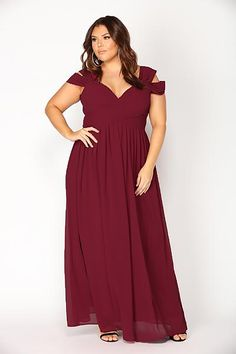 Shop sophistication maxi dress - wine from the latest Fashion Nova collection Backless Maxi Dresses, Maxi Dress Wedding, Gown Wedding, Bridal Gowns, Plus Size Long Dresses, Plus Size Gowns, Bridesmaid Dresses Plus Size, Burgundy Bridesmaid Dresses, Wine Dress