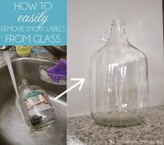 How to easily remove sticky labels from glass without breaking your fingernails or losing your mind!