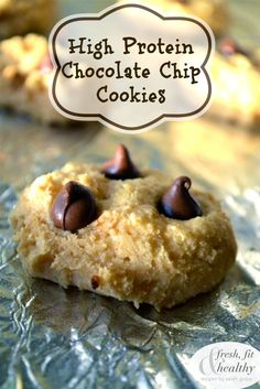 High Protein Chocolate Chip Cookies | Fresh Fit N Healthy 2 scoops Protein*** 2 tbsp Coconut Flour ½ cup Unsweetened Applesauce 1 tbsp Peanut Butter or other nut butter 1 tsp Baking Powder Dash of Vanilla Extract and Sea Salt Chocolate Chips, as much as desired!