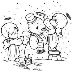 Snowman Color Page