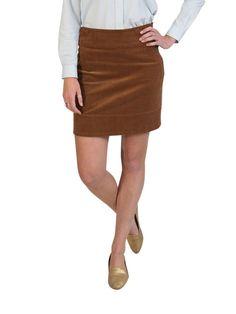 Beachcomber Corduroy Skirt Chocolate