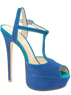 Cool New Shoes for Spring: Blue Suede Heels