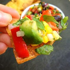 Avocado, Black Bean and Corn Salsa is packed flavor and loaded in vitamins, nutrients, protein and fiber.